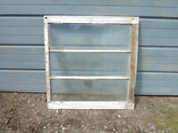 Antique Wood-Framed 3-Pane Windows
