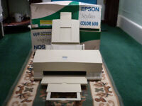 EPSON STYLUS COLOUR 600 INK JET PRINTER. COLLECTION ONLY.