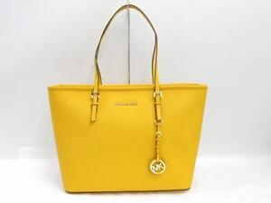 Michael Kors Yellow Jet Set Leather Travel Tote