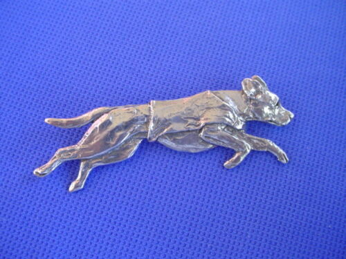 Rhodesian Ridgeback Pin COURSING 60F  Pewter Hound dog jewelry b Cindy A. Conter