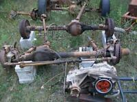 Jeep 4X4 front and rear difs.