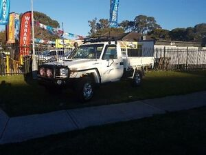 2008 Toyota Landcruiser White Manual Cab Chassis Ingleburn Campbelltown Area Preview