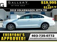 2015 Volkswagen Jetta TSI $119 bi-weekly APPLY NOW DRIVE NOW