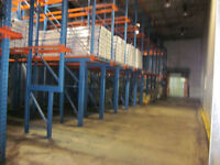 Refrigerated/dry warehouse, 76 skids space, 2 truck level docks