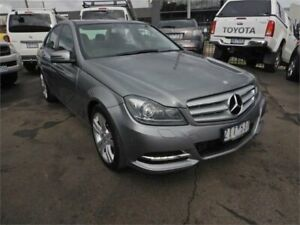 2012 Mercedes-Benz C200 W204 MY12 BE Silver 7 Speed Automatic G-Tronic Sedan Burwood Whitehorse Area Preview