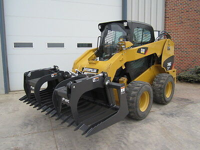 Paladin Ffc 84 Skid Steer Loader Construction Brush Grapple Bucket Attachment