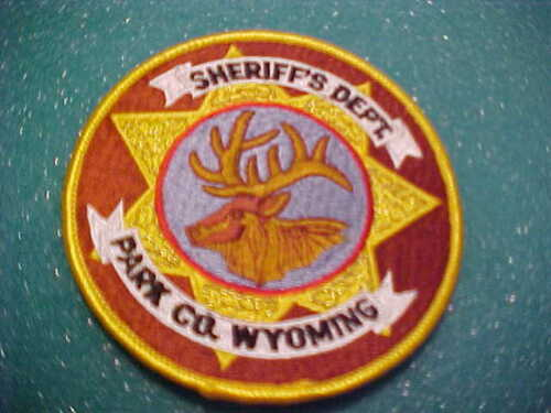 PARK COUNTY WYOMING  POLICE PATCH SHOULDER SIZE UNUSED 4 X 4