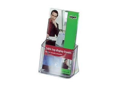 Sigel Style Tisch-Prospekthalter Prospektständer Acryl Flyer 1Fach