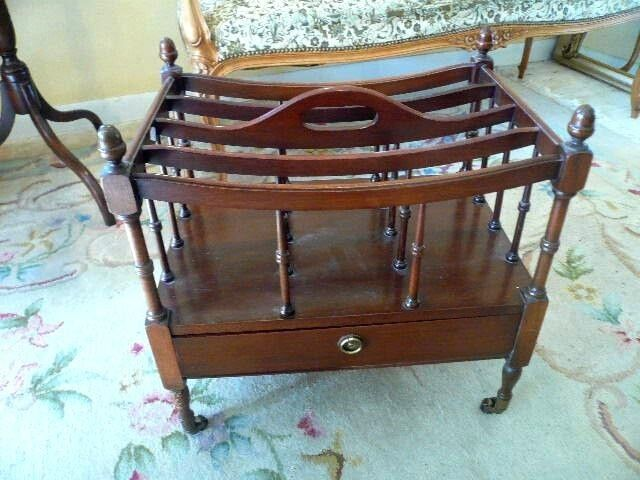 CANTERBURY MAGAZINE RACK WITH DRAWER -