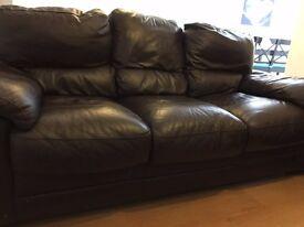 Leather Sofas- 3 Seater + 2 Seater Sofas