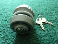 TOW HITCH SECURITY LOCK, BALL TYPE, COLLECTION ONLY.