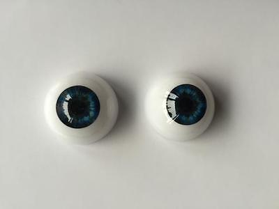 Reborn Baby Dolls Eyes Dark Blue 20mm Half Round Acrylic Accessories 20mm 1 Pair