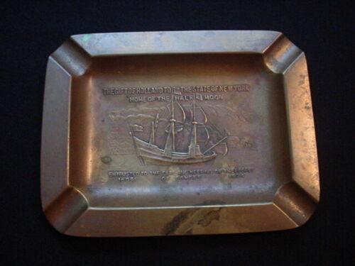 1909 Hudson Fulton Celebration, Half Moon Ship, Commemorative Ashtray