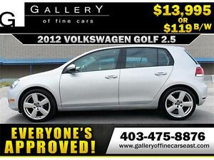 2012 Volkswagen Golf 2.5L $119 bi-weekly APPLY NOW DRIVE NOW