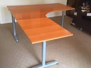 Ikea Galant Credenza : Desk and file drawer ikea galant range desks gumtree australia