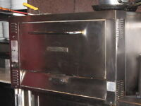 GAS PIZZA OVEN AND STORAGE CABINET