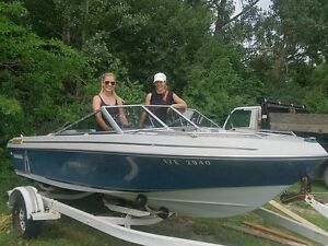 Outboard Motor Boat with Trailer