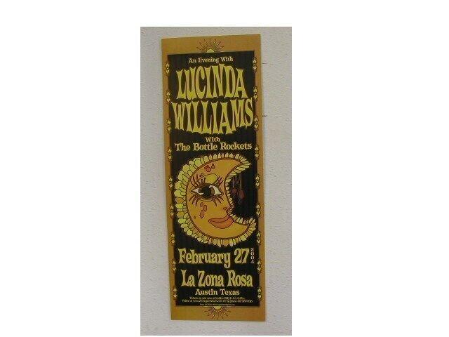Lucinda Williams Handbill Poster Bottle Rockets Austin