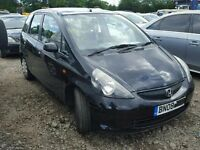 HONDA JAZZ 2008 PETROL BREAKING BLACK FOR SPARES TEL 07814971951 HAVE FEW IN STOCK