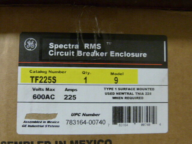 General Electric TF225S 225a 600v Type 1 Enclosure NEW 1-yr Warranty