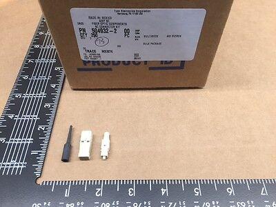 5 Pcs 504932-2 Tyco-amp 125m Fiber Optic Plug Connector Sc Simplex