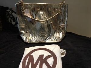 MICHAEL KORS GOLD MK MONO PURSE