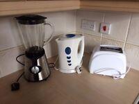 Kitchen essentials - kettle, blender, toaster