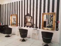 Salon chair and room to rent in busy glasgow salon