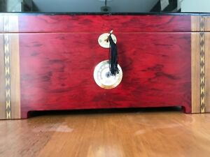 Cigar Humidifier Humidor -  Redwood gently used glass top