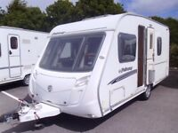 2007 compact Swift Fairway 470 FIXED BED 4 Berth Touring Caravan.