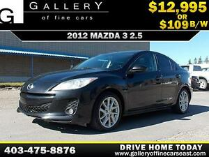 2012 Mazda Mazda3 2.5L $109 bi-weekly APPLY NOW DRIVE NOW