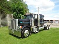 2006 PETERBILT 379L FLAT TOP, REBUILT CAT C-15 ENGINE