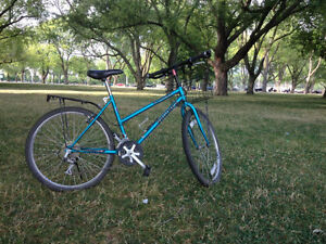 Mountain Bike with front basket and rack