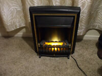 2kw electric fire with built in thermostat