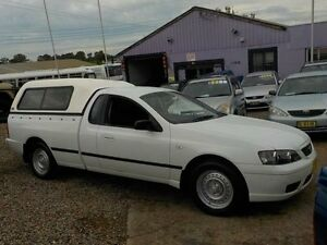 2003 Ford Falcon BA XL White 4 Speed Auto Seq Sportshift Cab Chassis North St Marys Penrith Area Preview