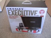 BRAND NEW CROSLEY EXECUTIVE USB PORTABLE TURNTABLE