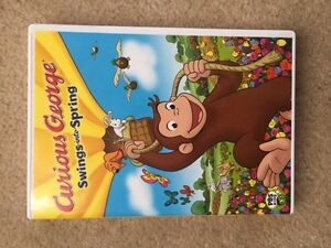 """Curious George """"Swings into Spring"""" DVD ~ played once or twice"""