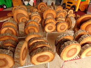 Wooden Slices ready for your Snowman Making