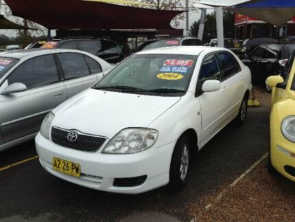 2004 Toyota Corolla ZZE122R Ascent White 4 Speed Automatic Sedan