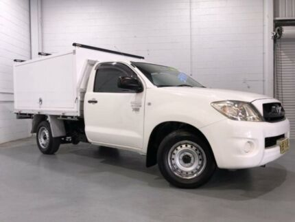 2009 Toyota Hilux TGN16R 08 Upgrade Workmate White 5 Speed Manual Cab Chassis Windsor Hawkesbury Area Preview