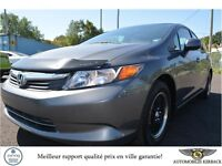 2012 Honda Civic LX A/C Bluetooth 5 Vitesses $166.66/Mois
