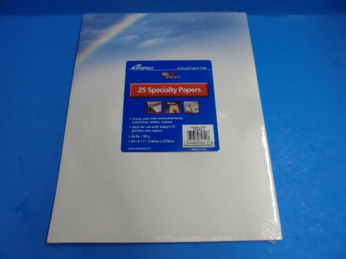 FREE SHIPPING! Ampad Specialty Paper, PC paper, Rainbow design, 25 sheets,