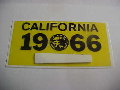 1966 california license plate registration yom sticker for the 1963 plates