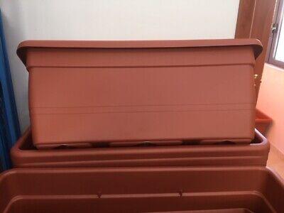 FIORIERA FIORIERE CASSETTA VASO in PLASTICA da 100x45x40