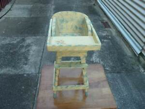 VINTAGE DOLL'S HIGH CHAIR Northgate Brisbane North East Preview