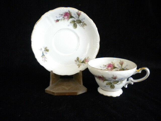 Vintage Fine Bone China Cup and Saucer Occupied Japan Scalloped Edging Flare Cup