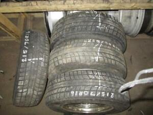 USED 215/70 R16 TRIANGLE SNOW LION TIRES (SET OF 4)