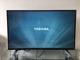 Toshiba 43 inch Full-HD LED TV with Freeview, Built-in Wifi, less than 1 year old