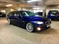 BMW 520D ALPINA AUTO 8 SPEED FULL SERVICE HISTORY HPI CLEAR MINT CONDITION 19INCH WHEELS VOSSEN 2011