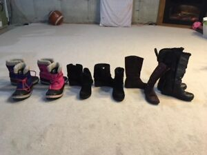 kids boots, various sizes- Sorel, Cougar, Joe Fresh other